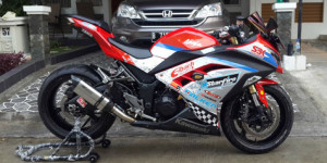 Gambar Modifikasi Ninja 4 Tax Sporty