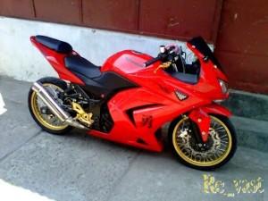 Modifikasi Ninja 4 Tax 250cc