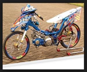 Modifikasi Supra X 125 Gaya road race