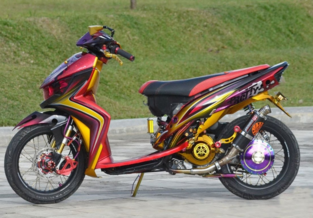 Top modifikasi motor mio soul simple