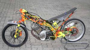 50 Gambar Modifikasi Motor Drag Satria FU 2016