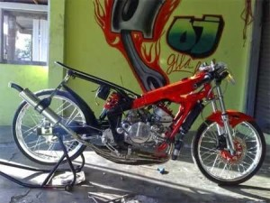 Gambar Modifikasi Motor Drag RX King