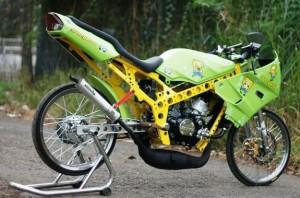 Modifikasi Motor Drag Mio, Ninja, Jupiter, Satria FU & Beat