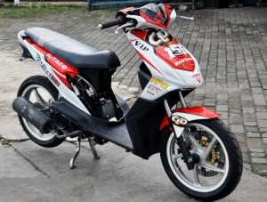 50 Gambar Modif Honda Beat Road Race & Drag Terbaru