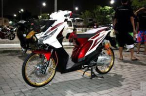 50 Gambar Modifikasi Honda Beat Road Race & Drag