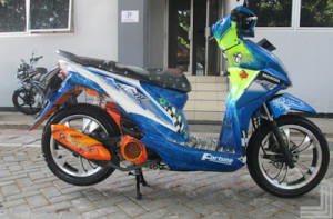 50 Gambar Modifikasi Honda Beat Road Race & Drag Terbaru