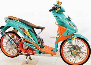 Gambar Modif Honda Beat Road Race dan Drag