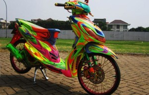 Modifikasi-Yamaha-Mio-air-Brush