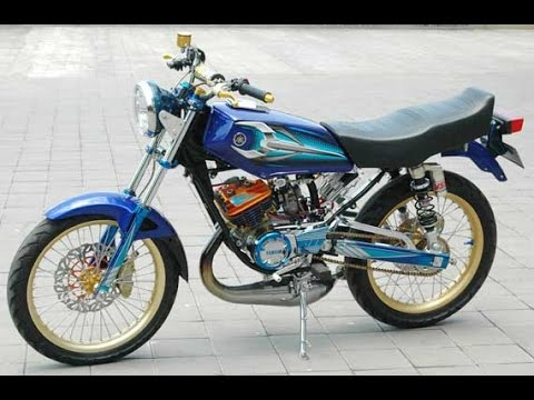 best modifikasi motor rx king warna biru