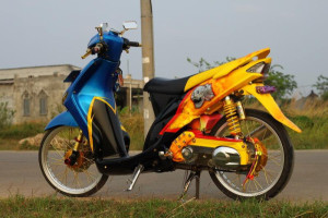 cara modifikasi yamaha mio air brush