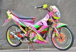 gambar modifikasi Suzuki Satria Fu
