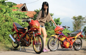 gambar modifikasi satria fu air brush