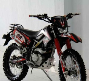 kawasaki klx black full modif