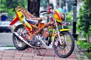 modifikasi motor suzuki satria fu 150 air brush