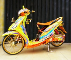 modifikasi yamaha mio air brush
