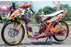 modifikasi yamaha mio road race