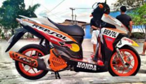 Gambar Modifikasi Honda Vario 150 eSP Repsol