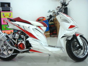 Gambar Modifikasi Honda Vario Techno Semi-Beat