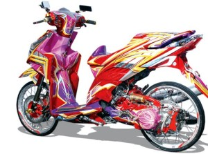 Modifikasi Honda Vario Techno Air Brush